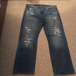 Levi's Jeans   Mens Ripped Jeans   Color: Blue   Size: 38x32