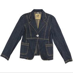 Michael Kors Jackets & Coats | Michael Kors Jacket, Blazer, Denim Jacket Nwt, 8p | Color: Blue | Size: 8p