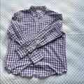 J. Crew Shirts | J. Crew Purple Gingham Shirt Jcrew Checked J.Crew | Color: Purple/White | Size: L