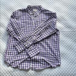 J. Crew Shirts   J. Crew Purple Gingham Shirt Jcrew Checked J.Crew   Color: Purple/White   Size: L