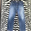 Levi's Jeans | Levis 501 Button Fly Distressed Denim Jeans | Color: Blue | Size: 33