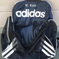 Adidas Bags | Sale:Adidas Soccer Backpack (Dark Blue) | Color: Blue/White | Size: Os