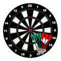 Arespark Dart Board Scoreboard,Safety Dart Board Game with Plastic Soft Tip Darts for Kids and Adults,2 Way Installations,Game for Party Office and Family Leisure Sport,6 Darts Set Included (Black)