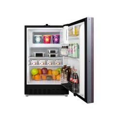 Summit Appliance 2.68 cu. ft. Undercounter Mini Fridge w/ Freezer Metal in Black, Size 32.0 H x 19.75 W x 24.38 D in   Wayfair ALRF49BIF