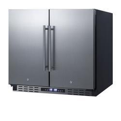 Summit Appliance 5.8 cu. ft. Convertible Undercounter Mini Fridge w/ FreezerStainless Steel in Gray, Size 31.5 H x 35.5 W x 25.13 D in   Wayfair