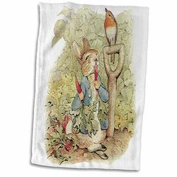 Symple Stuff Hollman Peter Rabbit in the Garden Hand Towel Terry in Gray, Size 22.0 H x 15.0 W in | Wayfair 66531F626DB8440F8D67EF2F30FCA943