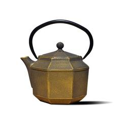 World Menagerie Theophania 30 -oz. Cast Iron Teapot Cast Iron in Black/Gray/Yellow, Size 7.25 H x 6.0 W x 4.75 D in | Wayfair 1068BC