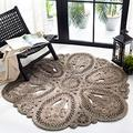 Safavieh Natural Fiber Round Collection NF360C Handmade Boho Charm Farmhouse Jute Area Rug, 8' x 8' Round, Grey