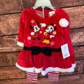 Disney Matching Sets | Disney Baby Christmas Outfit - 9-12m | Color: Red | Size: 9-12mb