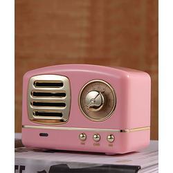 Epic Deals Wireless Speakers Pink - Pink Retro Wireless Bluetooth Speaker