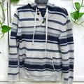 American Eagle Outfitters Shirts | American Eagle Blue And Gray Baja Hoodie V | Color: Blue/Gray | Size: S