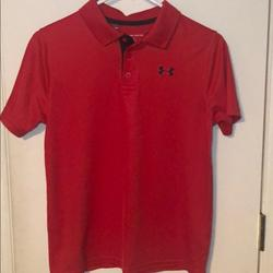 Under Armour Shirts & Tops   Boys X-Large Under Armour Golf Shirt   Color: Red   Size: Xlb