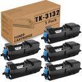 (Black 5 Pack) Compatible TK-3132 Toner Cartridge Replacement for Kyocera TK3132 FS-4300DN 1T02LV0US0 Printer Ink Cartridge