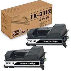(Black 2 Pack) Compatible TK-3112 Toner Cartridge Replacement for Kyocera TK3112 FS-4100DN 1T02MT0US0 Printer Ink Cartridge