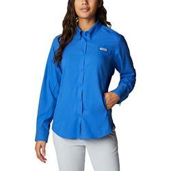 Columbia Women's Tamiami II Long Sleeve Shirt, Vivid Blue, Large