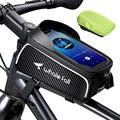 "Bike Bag Bike Phone Mount Bike Accessories for Phones Up to 7"", Waterproof Phone Holder for Bike Frame, Bicycle Accessories Bike Top Tube Phone Bag, Thickening Eva Cycling Pouch, with Rain Cover"
