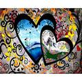 5D Diamond Art Kits Large Size DIY Diamond Painting Full Drill Pictures Crystal Rhinestone Cross Stitch Embroidery Arts Craft Canvas for Home Wall Decor Heart Love (30x40cm/12X16in) A1801