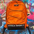 Polo By Ralph Lauren Bags | R.L Polo Sport Backpack | Color: Black/Orange | Size: Os