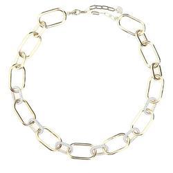 Time Necklace Necklace - Metallic - Swarovski Necklaces