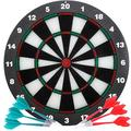 Joneytech Safety Dart Board for Kids, 16.4 Inch Rubber Dart Board Set with 6 pcs Soft Tip Darts for Boys Gifts and Adults, Office Board Games