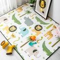 Tapis de sol antidérapant pour chambre d'enfants, mignon, dessin animé d'animaux, pour tente de jeu,