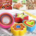 5 pièces Mignon Biscuit Moule Figure Géométrique Biscuit Fondant BRICOLAGE Gâteau Cuisine Moule De