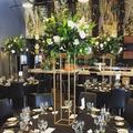 Gros or fer fleur support pièce maîtresse de mariage décoration sol Vases grand présentoir Table