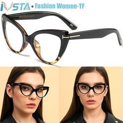 IVSTA – monture de lunettes Tom TF œil de chat pour femmes, marque de luxe, styliste papillon