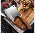 Couteau de cuisine 6.5 pouces couteau à os robuste couteau de boucher manche en bois 5CR15 acier