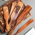 Ensemble d'ustensiles de cuisine en bois, ensembles de cuisine en bois d'acacia, ustensiles de