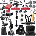 SnowHu – ensemble d'accessoires pour Gopro hero 9 8 7 6 5 4 3, kit 3 voies, bâton de selfie pour
