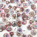 Boutons en bois tête de mort mélangés, 100 pièces, couture aléatoire, accessoires de couture,