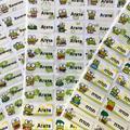 Étiquette autocollante personnalisée motif grenouille, 100 pièces, étiquette personnelle multicolore