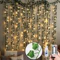 Guirlande de plantes artificielles en rotin et soie, 12 pièces, décoration suspendue pour la maison,