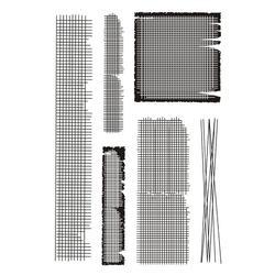 Timbres-poste transparents, éléments de fond Vintage, pour bricolage, Scrapbooking, grille