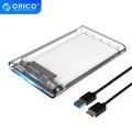 ORICO Externe Boîtier De Disque Dur 2.5 ''Transparent Boîtier de disque dur SATA Vers USB 3.0 HDD