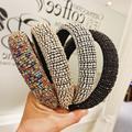 Bandeau de cheveux rembourré à la main pour femme, coiffe de mariage, cristal, Baroque, accessoires