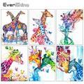 Evershine – peinture de diamant 5D bricolage-même, broderie de girafe en point de croix, image de