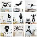 Grand autocollant Mural en vinyle avec nom personnalisé Football, Stickers muraux FC pour enfants,
