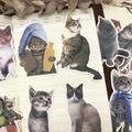 Autocollants chat mignon, 15 pièces, DIY bricolage, scrapbooking, décoration pour album journal