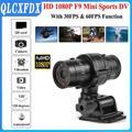 Caméra F9 Full HD 1080p pour moto, casque de vélo, sport, Action, vidéo DV, enregistreur vidéo de