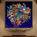 Kit complet de broderie, point de croix DMC, pour bricolage, royal phoenix bird imprimé paon, cadeau
