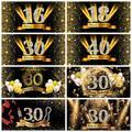Happy 50 40 30 18 16th fête d'anniversaire points d'or affiche photographie toile de fond fond