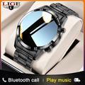 LIGE – montre connectée pour hommes, étanche IP68, plusieurs modes de sport, fréquence cardiaque,