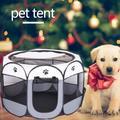 Cage octogonale pliante pour animaux de compagnie, tente pour chiens et chats, parc à chiot, niche