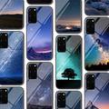 Coque en verre pour Samsung Galaxy, compatible modèles S21, A51, S20, A50, A21S, A12, A71, A70, S10,