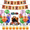 Décorations de fête d'anniversaire, ballons en Latex, bannière d'anniversaire, ensemble de