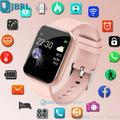 Montre connectée tactile pour enfants et adolescents, Android IOS, moniteur d'activité physique,