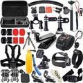 Kit d'accessoires pour caméra d'action, 42 pièces, pour GoPro Hero 8 Max 7 6 5 4 Black GoPro Session