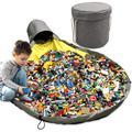 Sac de rangement pour jouets, panier à linge pliable, tapis de jeu pour enfants, organisateur de